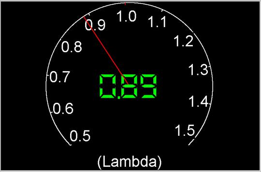 Измеренное значение коэффициента Лямбда равно 0,89 что указывает на значительное обогащение топливовоздушной смеси