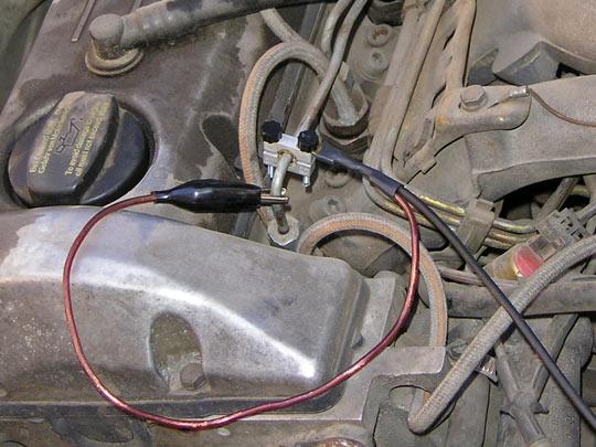 Установка пьезоэлектрического датчикаПД-4/ПД-6 на топливопровод одной из форсунок