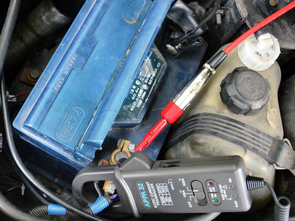 Подключение токовых клещейAPPA32