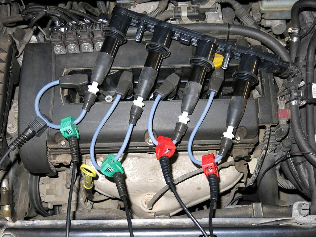 Применение высоковольтных удлинителей для проверки модуля DIS-катушек зажигания