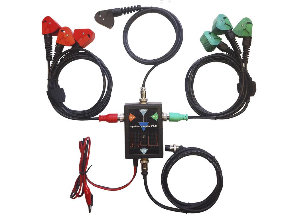 Подключение адаптера диагностики систем зажигания
