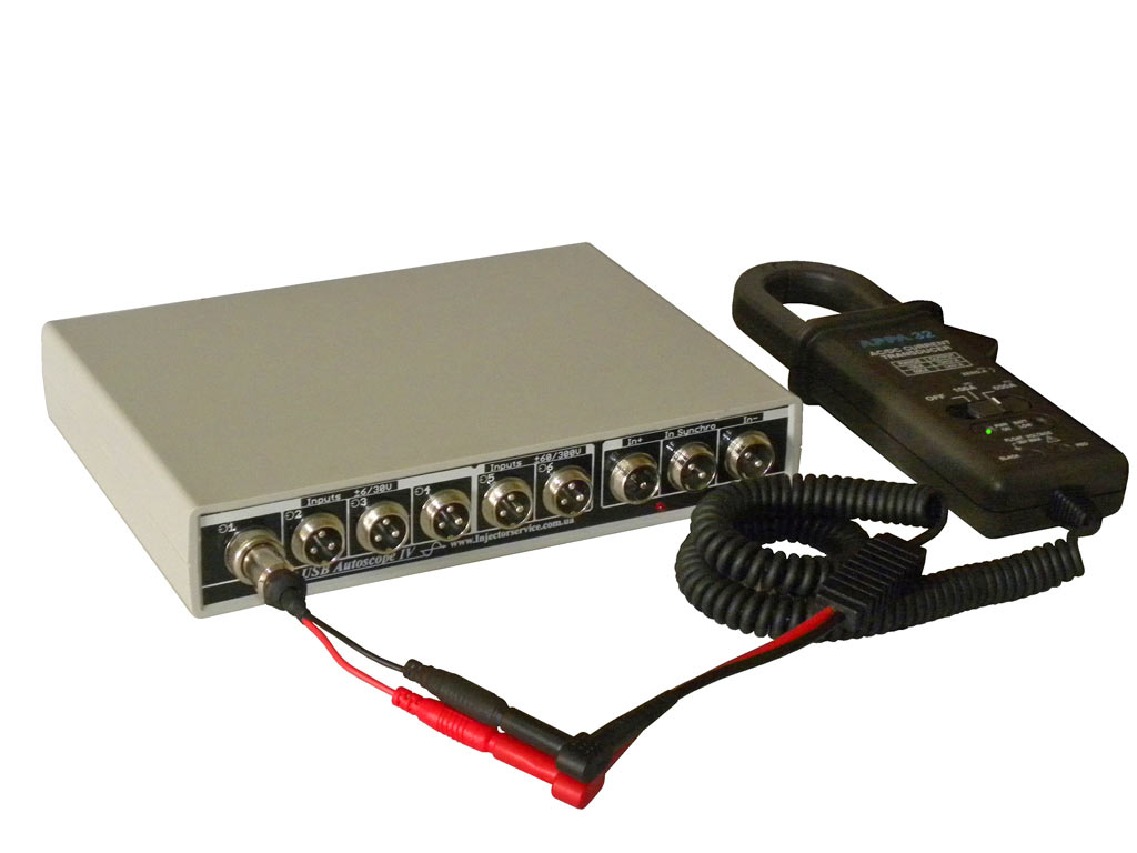Подключение переходника PIN3-banana дляAPPA32 подUSBAutoscopeIV