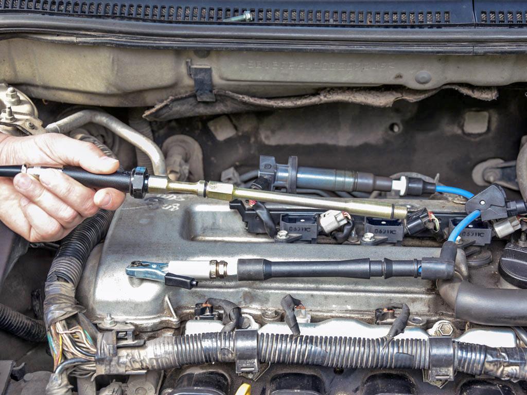 Применение удлинителя для датчика давления в цилиндре