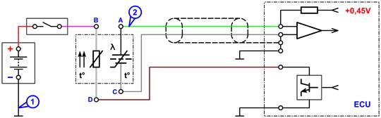 Схема подключения к лямбда-зонду BOSCH
